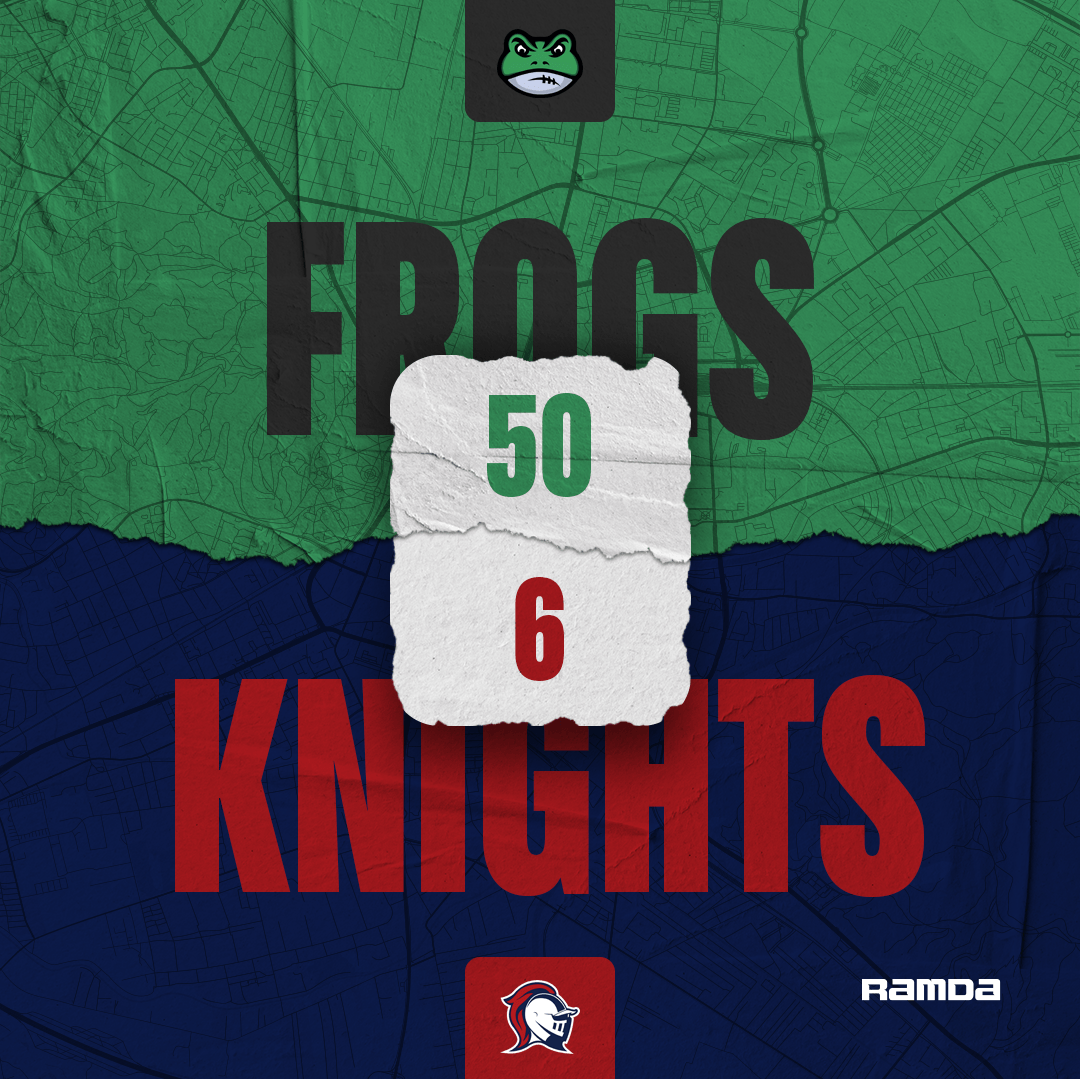 Frogs gave the fourth defeat of the Knights.