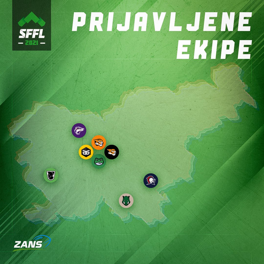 LJUBLJANA FROGS FLAG FOOTBALL SFFL OPPONENTS.