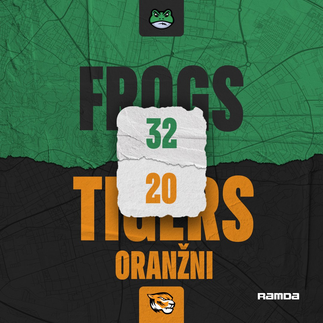 After the huge loss in the SFFL Ljubljana Frogs picked up the pace and won against Tigers