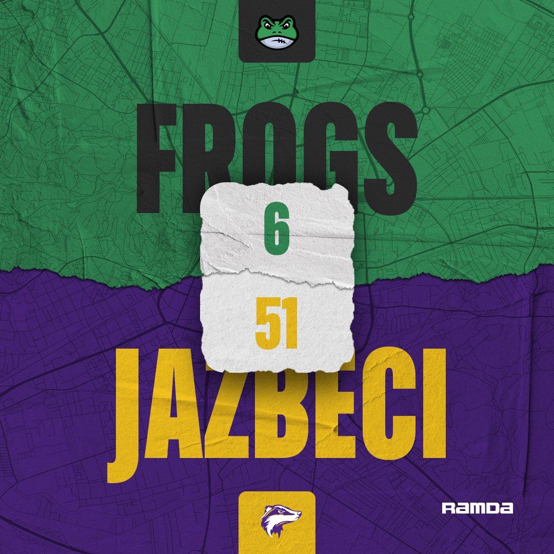 Unbeaten record of Ljubljana Frogs in SFFL is broken by Kranjski Jazbeci